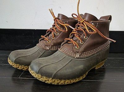 LL Bean Classic Duck Boots Mens 8 Womens 10 Outdoors Hunting Rubber Shoes