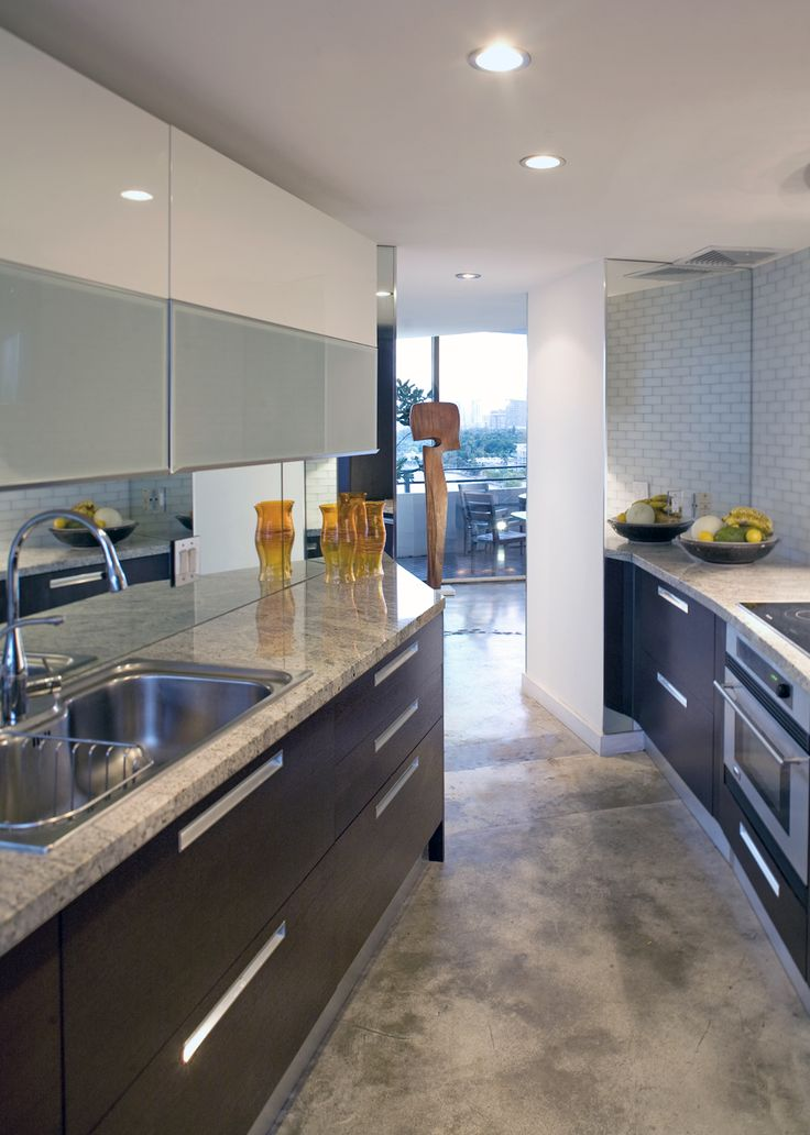 This is Kevin Gray's kitchen from his condo at the Palm ...
