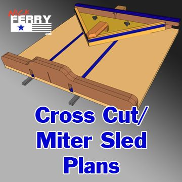 23pages of high quality, full color step by step PDF plans for the cross cut / miter sled comboI made in episode 58. All downloadable products are non-refundable. On checkout receipt you will b...