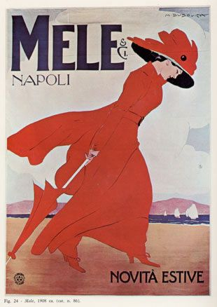 """Anno: 1908 Soggetto: """"Mele & C. Napoli"""" - Novità estive.Stampa Ricordi, Milano Provenienza: Raccolta Salce, Civico Museo Bailo ,Treviso. Inv. n. 4032."""