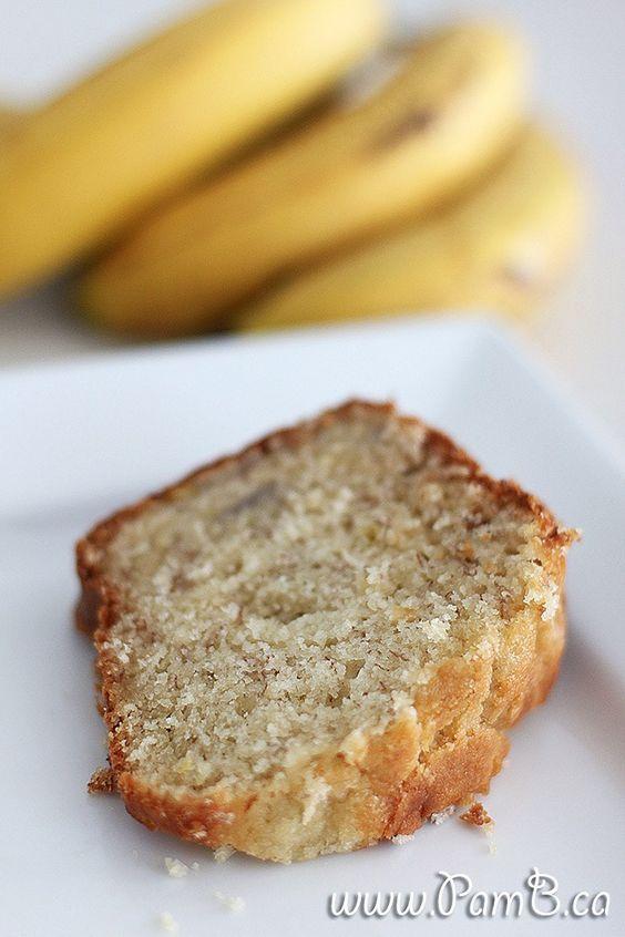 bolo fofo de banana e iogurte