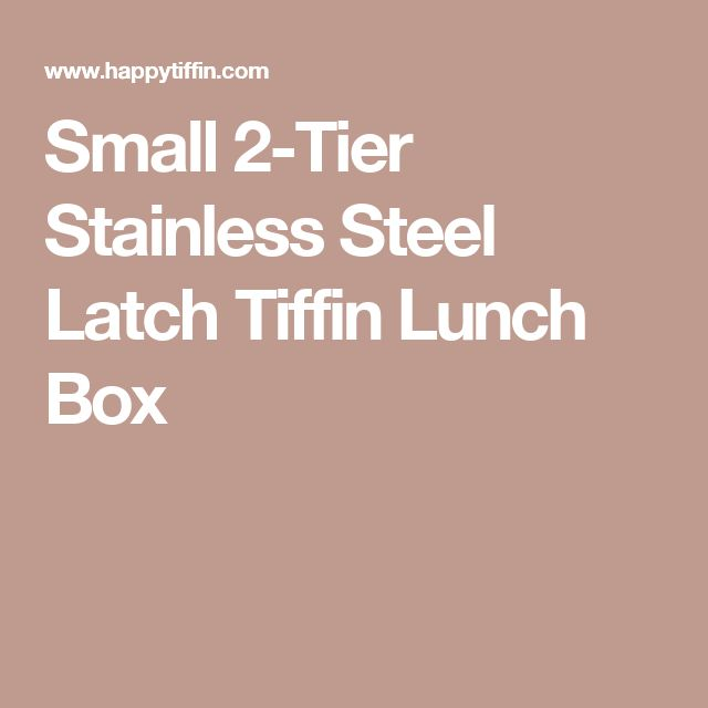 Small 2-Tier Stainless Steel Latch Tiffin Lunch Box