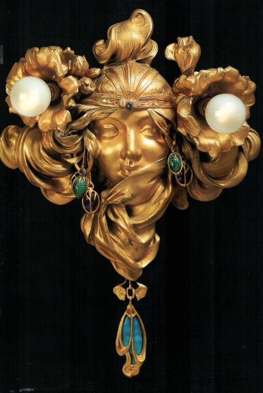 'The Distant Princess', beautiful execution of Art Nouveau. by Alphonse Mucha and Adolphe Truffier, 1904