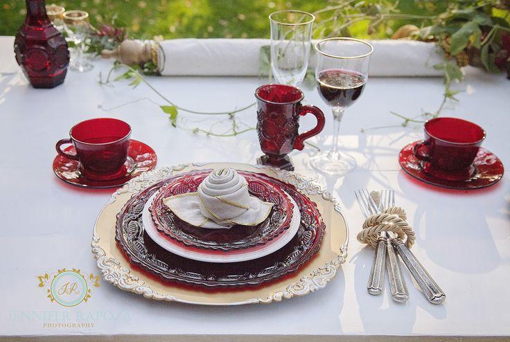 The perfect sweet heart table set for a princess at the beautiful Ironstone Vineyards. Love the red Avon dishes. #savetheeventssonora #sonoraweddingplanner #murphysweddings #californiaweddings #tuolumnecountyweddingplanner #weddingsinthe motherlode #jenniferrapozaphotography #ironstonemurphys #ironstonevineyards