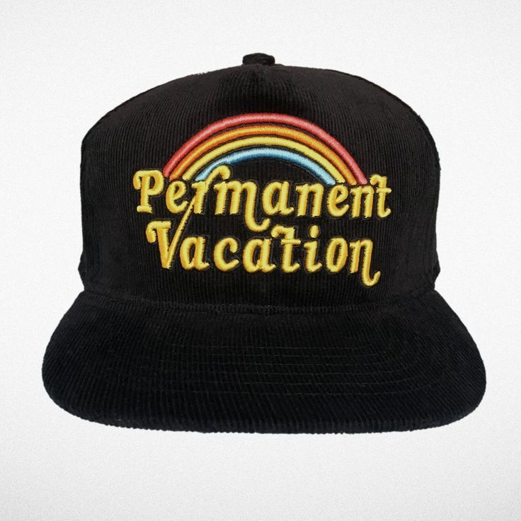 "Tiny Whales ""Permanent Vacation"" Snap Back Hat"