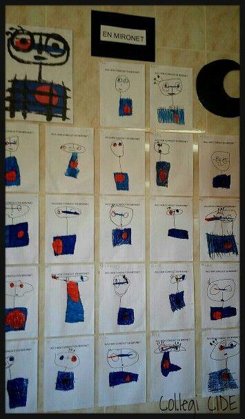 Dibuixam en Mironet. Projecte Joan Miró 4 anys.