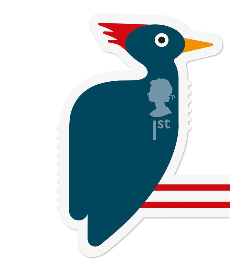 Royal Mail Animal Woodpecker stamp