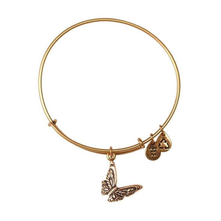 ZeeBerry - Butterfly Expandable Wire Bangle | Rafaelian Gold, $28.00 (https://www.zeeberry.com/shop-by-designer/alex-and-ani/butterfly-expandable-wire-bangle-rafaelian-gold/)