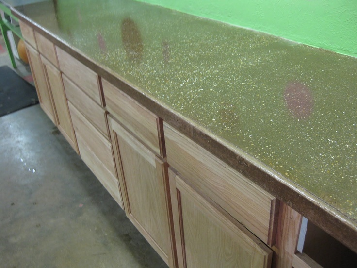Workshop Countertop Materials : ... Countertops on Pinterest Countertops, Concrete counter and Cement