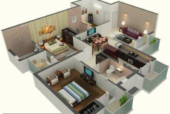 Awesome 1000 Sq Ft House Plans 2 Bedroom Indian Style With Images