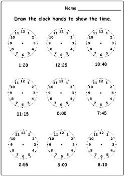 FREE! Drawing hands to clock activity, for more resources follow https://www.pinterest.com/angelajuvic/autism-special-education-resources-angie-s-tpt-sto/