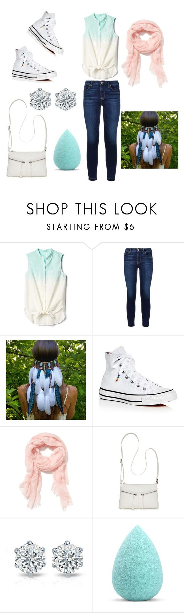 """""""Maximonous #4"""" by maya2005 ❤ liked on Polyvore featuring Gap, Hudson, Converse, Old Navy, Bueno and My Makeup Brush Set"""