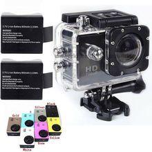 SJ4000 action originale plongée 30M étanche caméra Full HD 1080p Casque Underwater Cameras Sport DV Gopro 2x Batterie(China (Mainland))