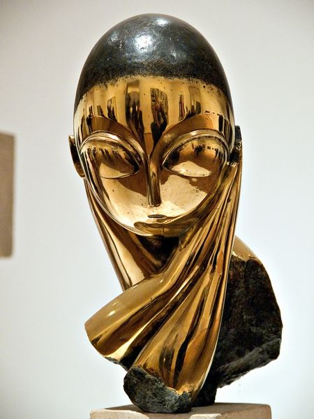 "Constantin Brancusi – Madamoiselle Pogany, 1913 version of one of his most celebrated works, ""Mademoiselle Pogany,"" a bronze bust of a young woman spare and streamlined as an egg, ignited a baroque custody battle waged in courtrooms in Manhattan, Oslo and Paris in 2009."