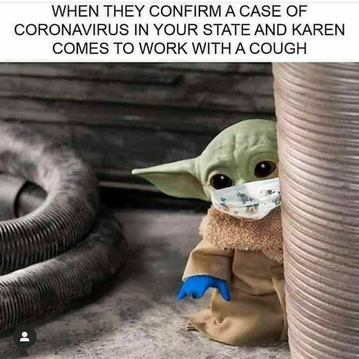 Pin By Don Rock On Baby Yoda Love Karen Memes Yoda Funny Funny Star Wars Memes