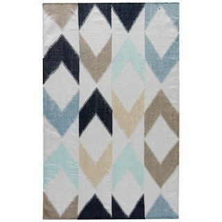 Shop for Patagonia Indoor/ Outdoor Geometric Blue/ Gray Area Rug (5' X 8'). Get free shipping at Overstock.com - Your Online Home Decor Outlet Store! Get 5% in rewards with Club O! - 18953389