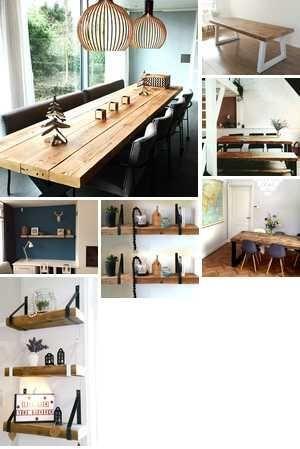 Houten handgemaakte meubels
