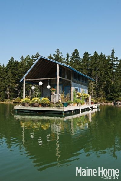 Tour This 240-Square-Foot Floating Cabin in Maine