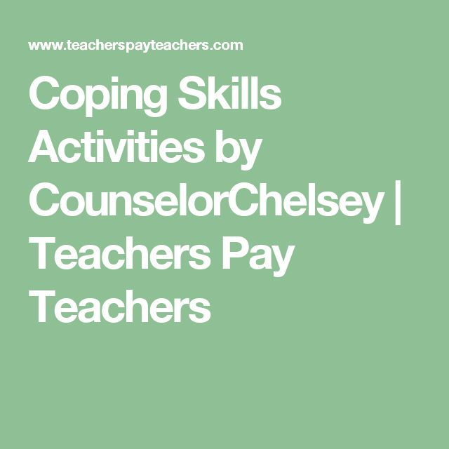 Coping Skills Activities by CounselorChelsey   Teachers Pay Teachers