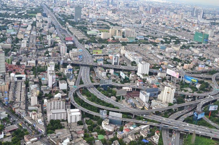 nice look of crazy Bangkok