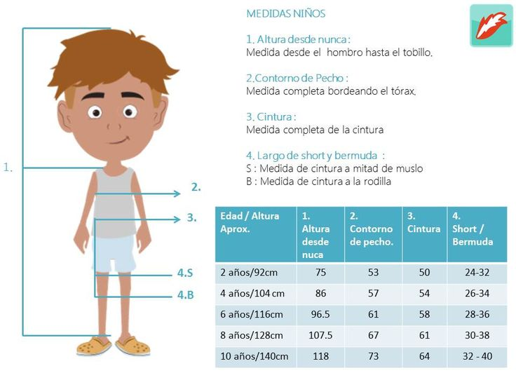 Size chart- Niños