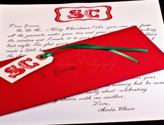 171 best letters from santa images on Pinterest  Letter from