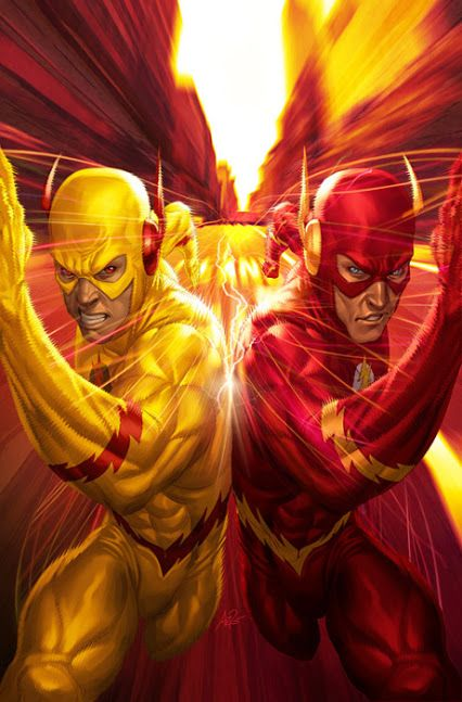 The Flash & Reverse Flash by Artgerm \ Stanley Lau [=> http://artgerm.deviantart.com/art/Flash-8-183307108 ]