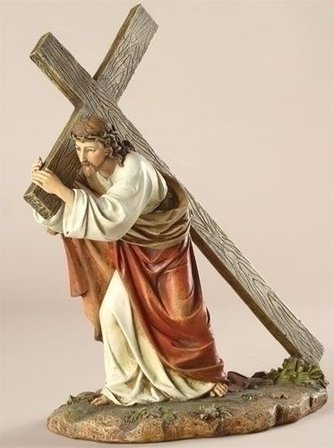 286 best easter gifts images on pinterest easter gift spiritual christ carrying his cross large religious easter christian statue lord jesus negle Images
