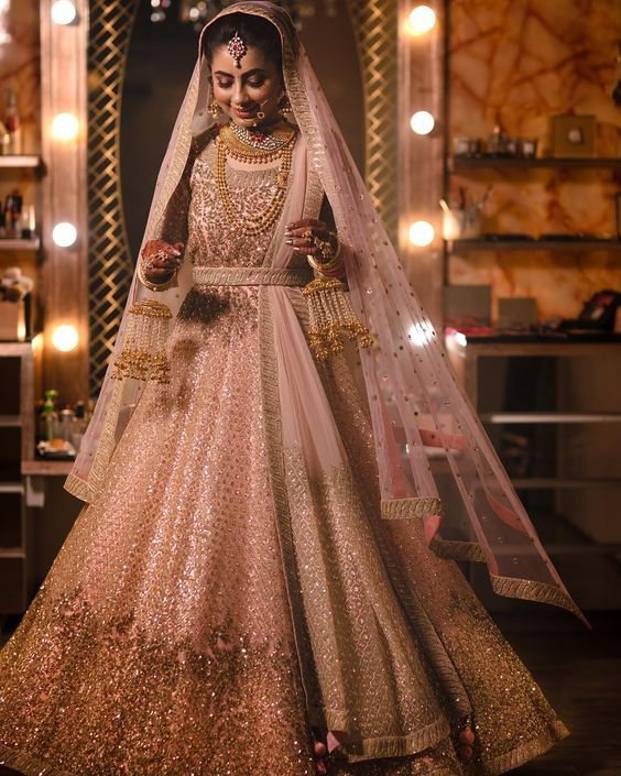 d22b304157 8 Bridal Lehenga Colours That Will Be Big In 2018 | Projects to try | Pink bridal  lehenga, Indian bridal lehenga, Wedding dresses