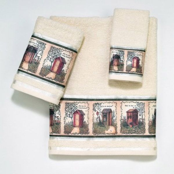 Outhouses Beige Bath Towel By Avanti