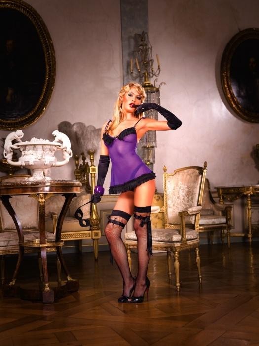Purple-Black Ruffled Nightgown Lingerie Canada, Sexy Corsets, Plus Size Lingerie, Halloween Costumes, Platform Heels, Hosiery, Buy Canadian