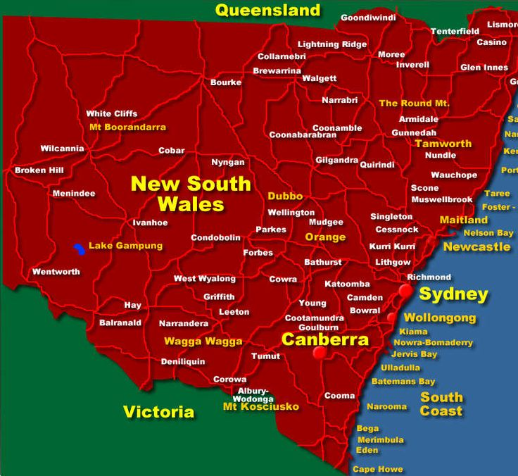 The colony of New South Wales was founded in 1788. It originally comprised a larger area of the Australian mainland also including Lord Howe Island, New Zealand, Norfolk Island and Van Diemen's Land. During the 19th century, large areas were separated to form the British colonies of Tasmania, South Australia, New Zealand, Victoria, Queensland and the Northern Territory (1863). Since 1901 New South Wales has been a state of the Commonwealth of Australia.