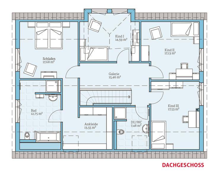 Einfamilienhaus mit kleiner einliegerwohnung grundriss  57 besten Grundrisse Bilder auf Pinterest | Grundriss bungalow ...