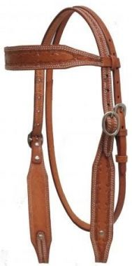 Check out the deal on Showman Argentina Cow Leather Headstall With Barbed Wire Tooling at Chicks Discount Saddlery