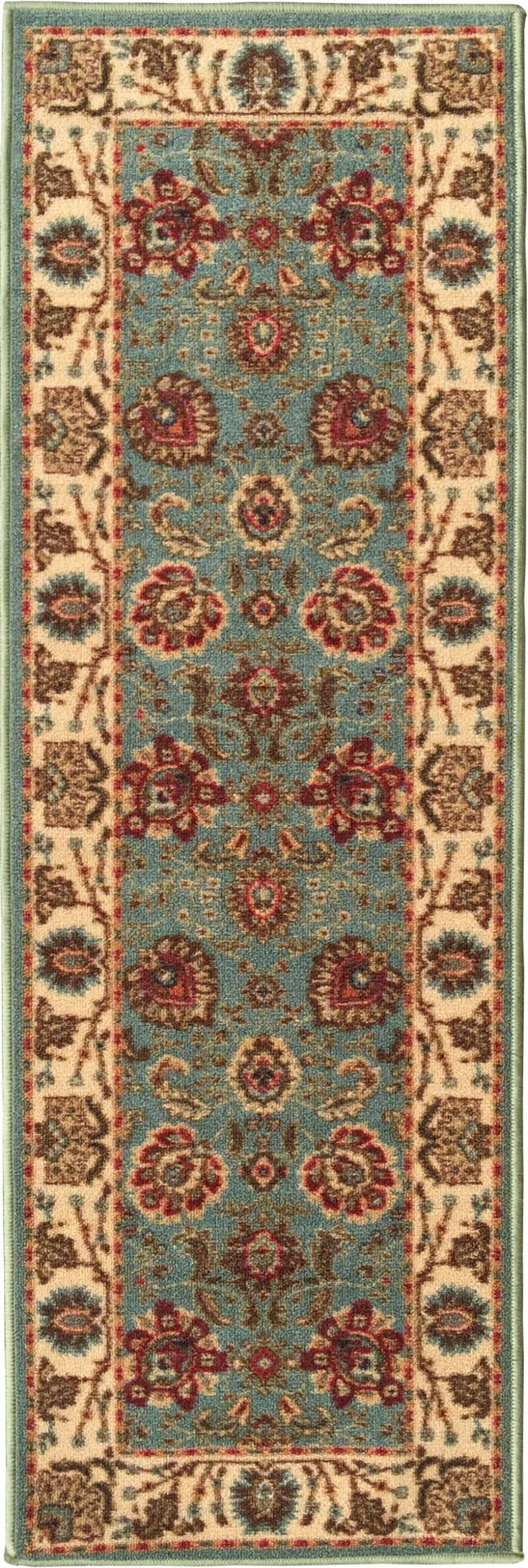 Ottomanson Otto Persian Style Rug Oriental Rugs Runner Rug With  Non SkidRubber Backing, 20