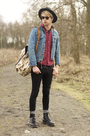 Levi's Levis Denim Jacket, Topman Jeans, Dr. Martens Black Dr Martens