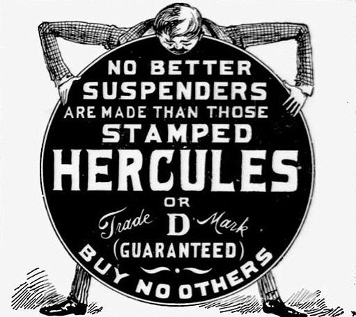 Vintage Ad #2,128: Hercules Suspenders by jbcurio, via Flickr