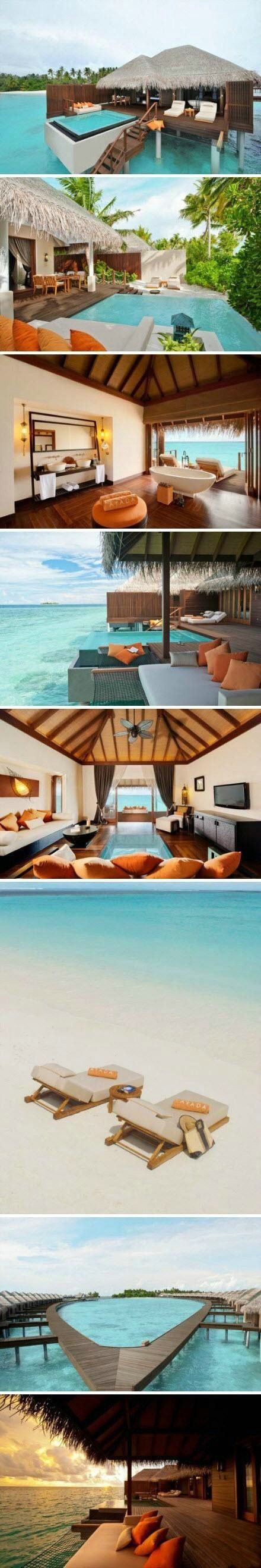 "Ayada Resort, Maldives This is my ""holy grail"" of vacations."