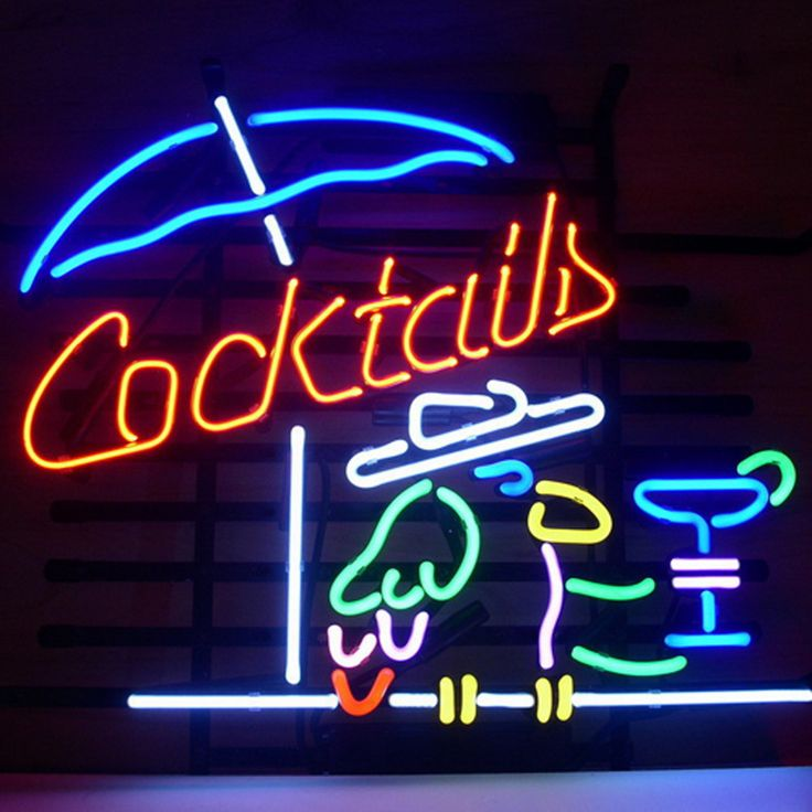 Customized neon sign 279 pinterest cocktail parrot cocktails real neon glass beer bar pub signhow i love mozeypictures Image collections