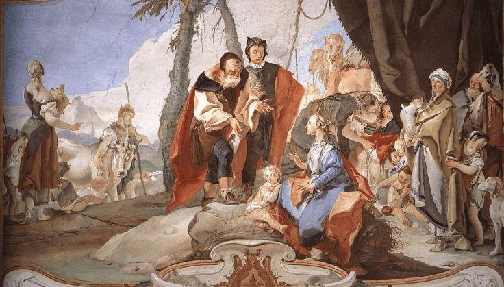 иллюстрация к библии Книга Бытие глава 31 #библия #ветхийзaвет #Bible #иллюстрация #гравюра #картина #искусство #религия #христианство