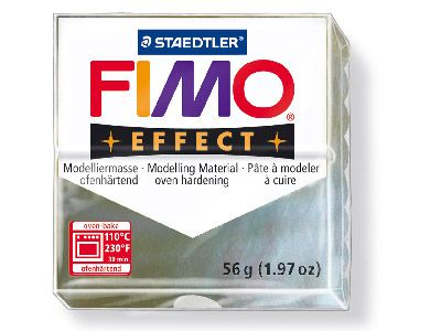 Fimo Effect Metallic Mother Of     Pearl 56g Polymer Clay Block Fimo  Colour Reference 08