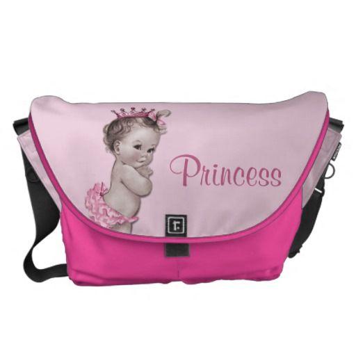Vintage Princess Pink Baby Diaper Bag Courier Bags