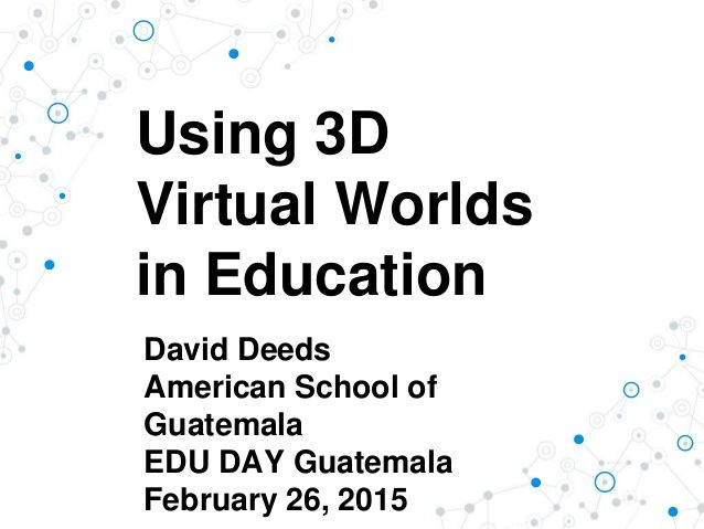 learning from the virtual world essay Virtual, is it good or bad the virtual world/mmorpgs could and will harness negative impacts on the new e-learning world furthermore, to the virtual world.