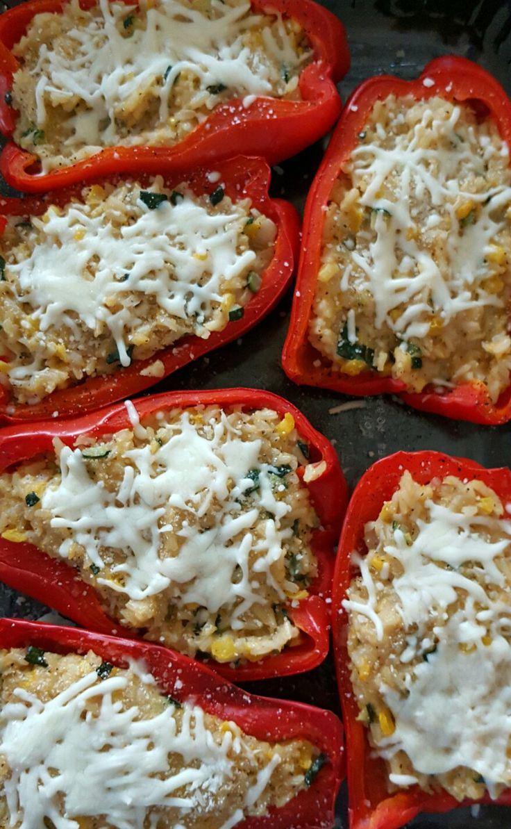 Quinoa and veggie stuffed peppers