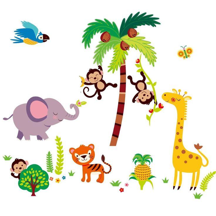 Amazon.com - Tumble in the Jungle Monkeys Giant Nursery/kids Room Wall Sticker Decals -