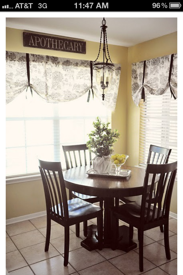 Curtain Idea Use Cheap Curved Rod Sew A Pocket Into The Fabric And Add Grosgrain Ribbon For Kitchen Window