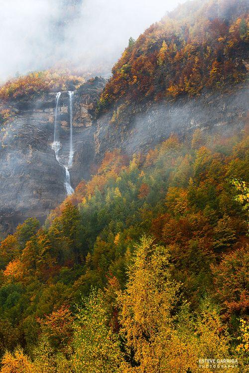 Autumn colors in Ordesa y Monte Perdido National Park, Pyrenees Range, Spain.