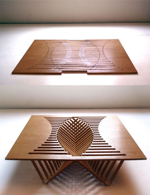 still not found what I was looking for, but how cool is this?? Flat-Pack Folding Table Design