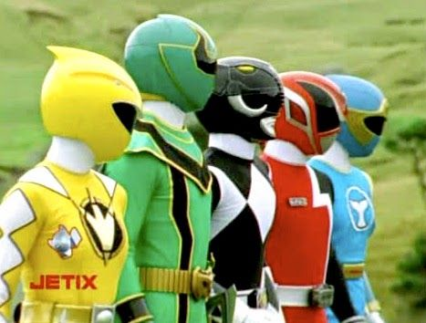 """Scene from the """"Once A Ranger"""" team up episode of Power Rangers Operation Overdrive"""