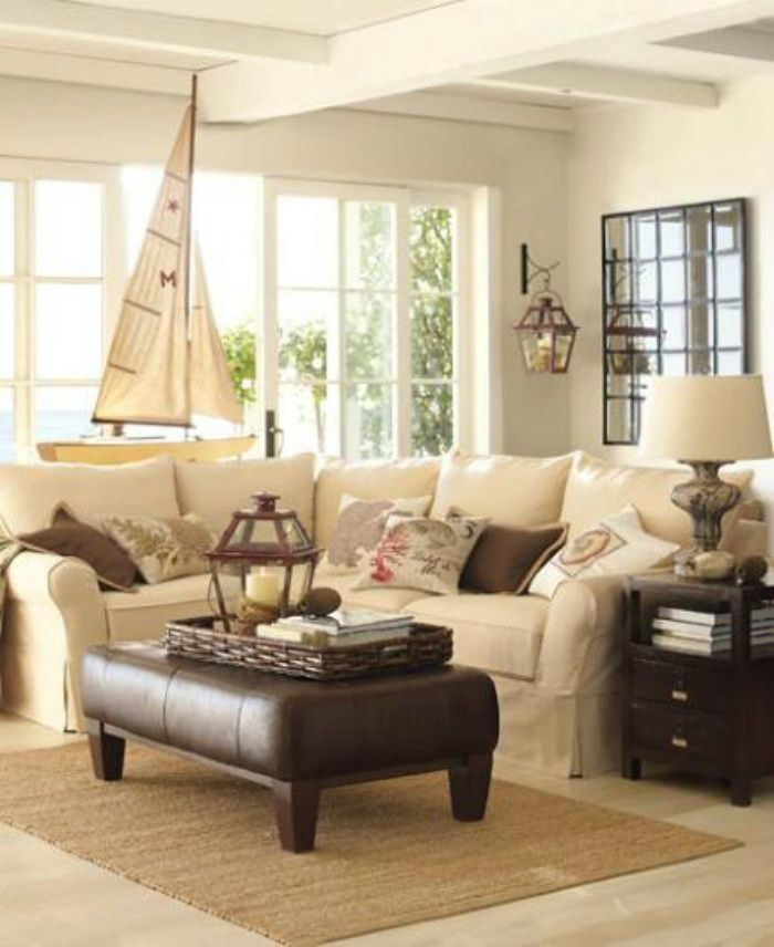 Successful Sectional Sofas Decor IdeasDecorating IdeasNautical ThemeCoastal Living